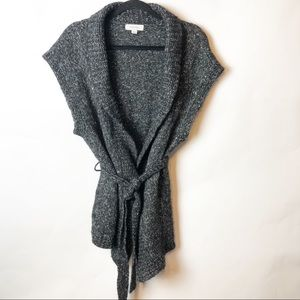 Merona Dark Grey Marbled Knit Vest